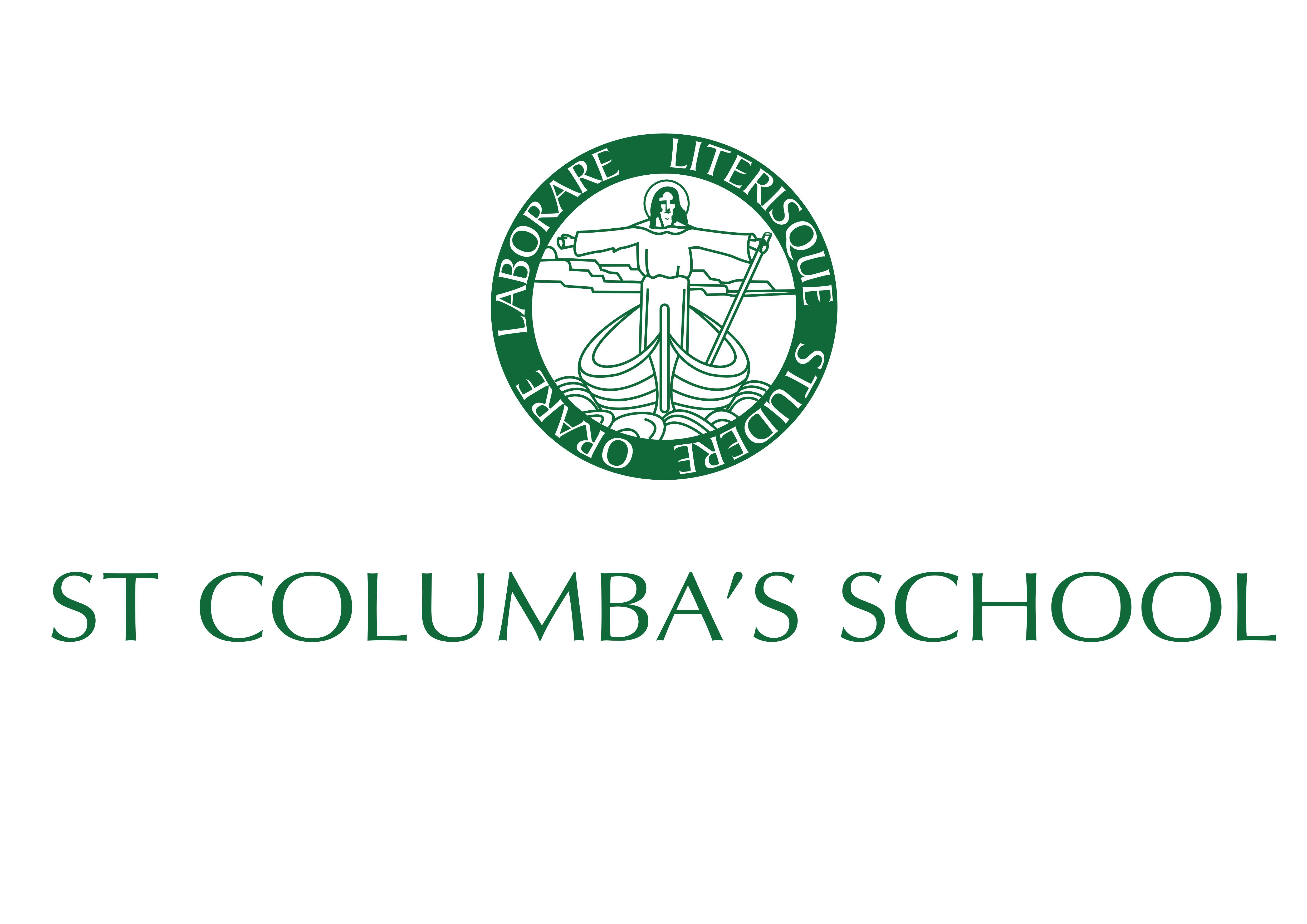 St Columbas centred logo green